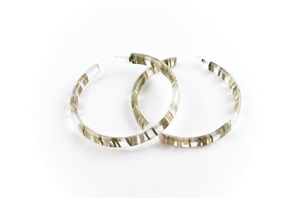 Bear Grass Lite Hoop Earrings - Large