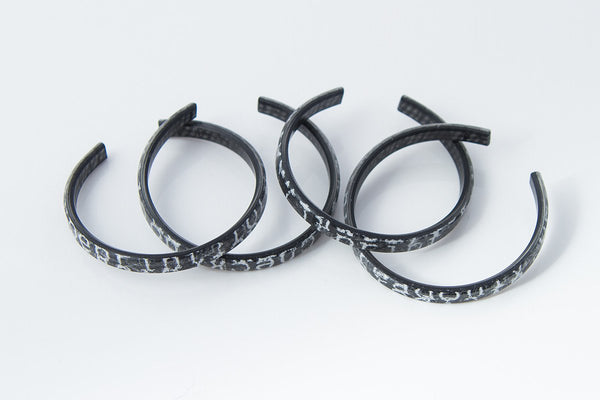 Courier Black Bangle