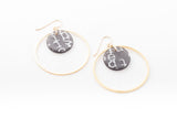 Ecoresin Earrings - Double Circle