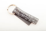 Courier Black Key Chain