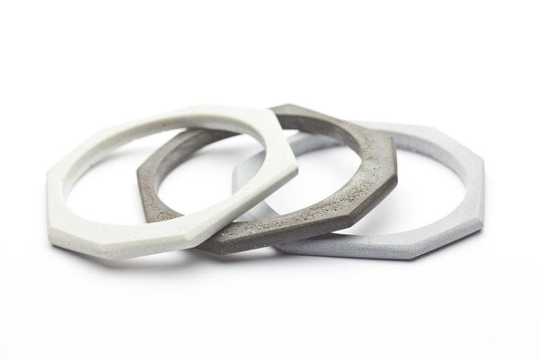 Cement Bangle - Octagon