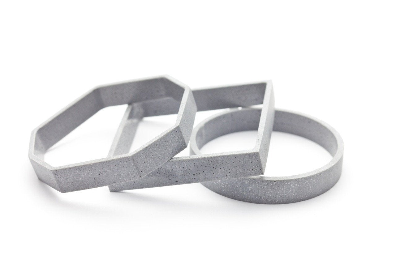 Concrete Outline Bangle