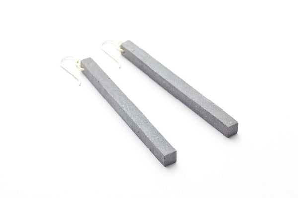 Cement Earrings - Skinny - 3 inch