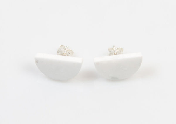 Corian Half Circle Earrings  - Winter