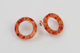 Corian Open Circle Earrings - Lava