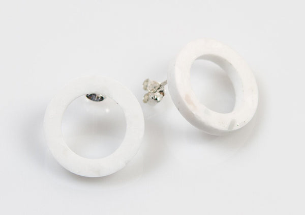 Corian Open Circle Earrings - Winter