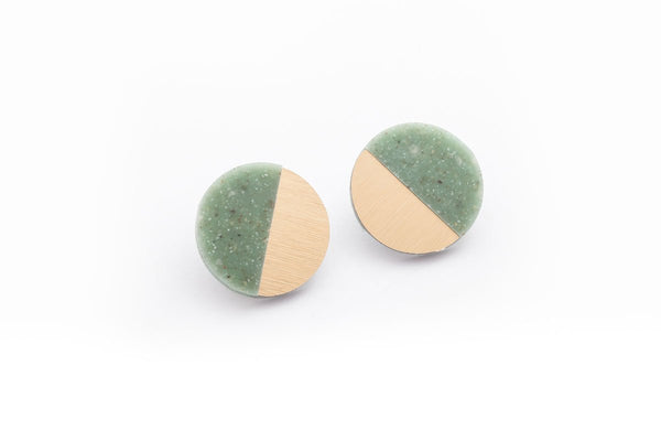 Corian Sector Earrings  - Jade