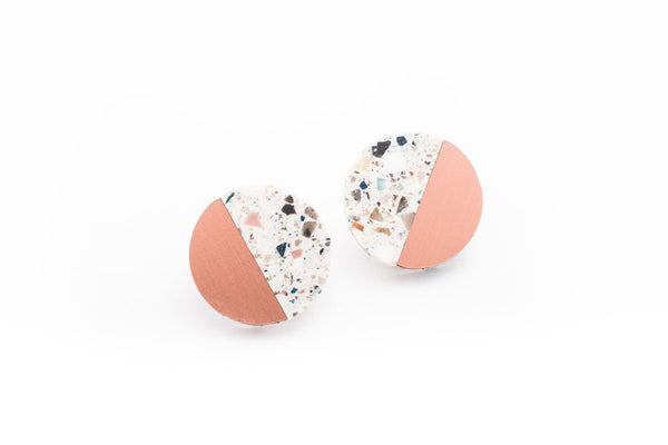 Corian Sector Earrings  - Terrazzo