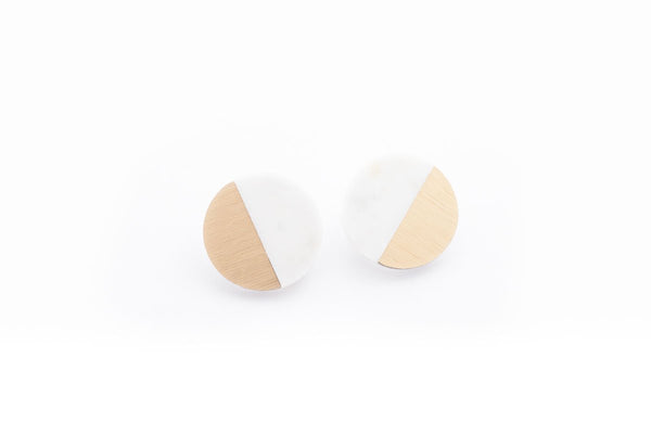 Corian Sector Earrings  - Winter