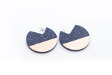 Corian Segment Earrings  - Cobalt