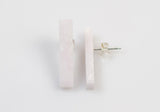 Corian Stick Earrings - Blush