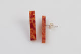 Corian Stick Earrings - Lava
