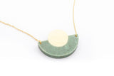 Corian Arc Circle Necklace - Jade
