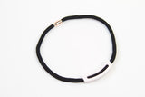Corian Rope Arc Necklace - Black - Blush