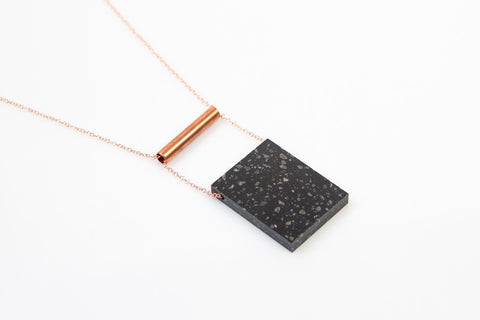 Corian Rectangle Necklace  - Midnight