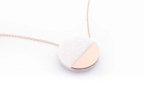 Corian Sector Necklace - Blush