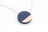 Corian Sector Necklace - Cobalt