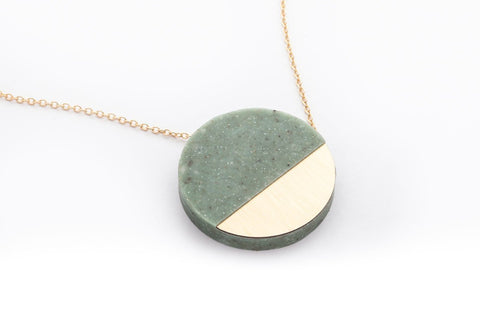 Corian Sector Necklace - Jade