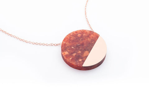 Corian Sector Necklace - Lava