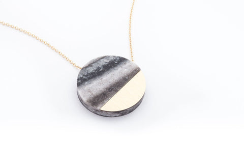 Corian Sector Necklace - Marble