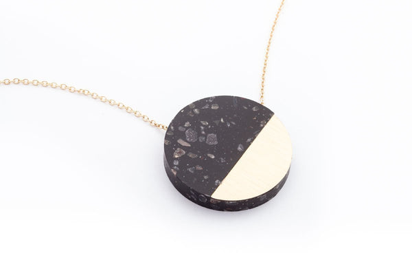 Corian Sector Necklace - Midnight