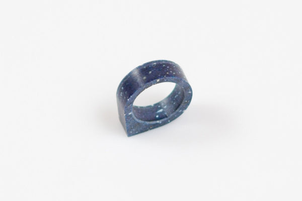 Corian Drop Ring - Cobalt