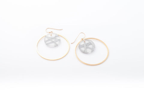 Connection Silver Earrings - Double Circle