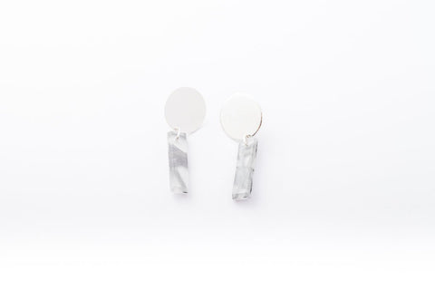Connection Silver Earrings - Drop Circle