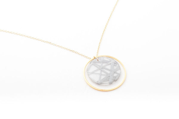 Connection Silver Necklace - Double Circle