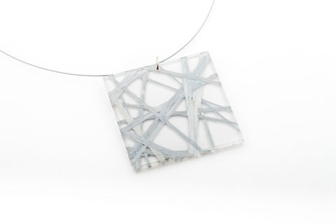 Connection Silver Necklace - Lrg Square