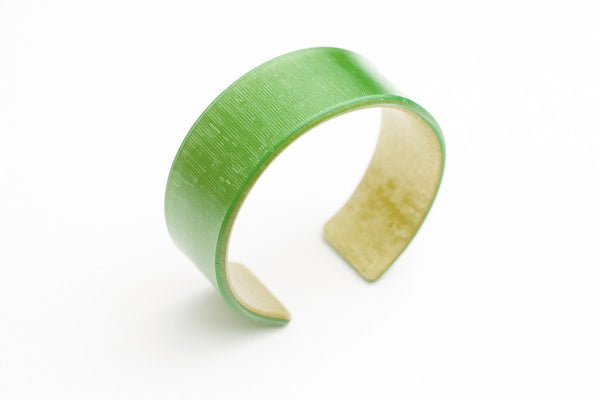 Emerald Gold Cuff - Narrow