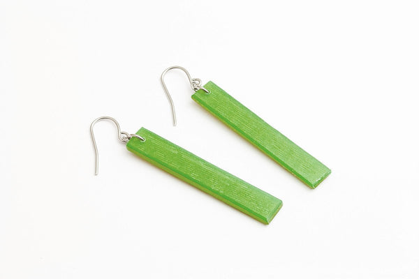 Emerald Gold Earrings - Long