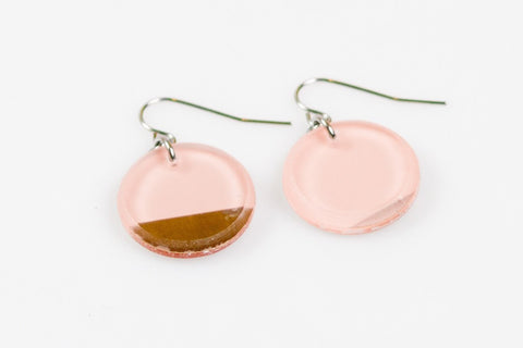 Electra Rose Earrings - Circle
