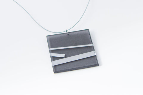 Electra Silver Necklace - Lrg Square