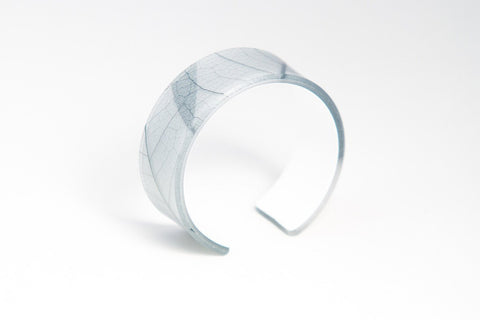 Fossil Leaf White Cuff - Narrow