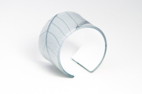 Fossil Leaf White Cuff - Wide