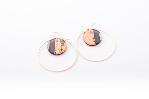 Gild Copper Earrings - Double Circle