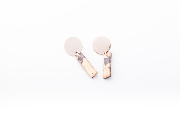 Gild Copper Earrings - Drop Circle