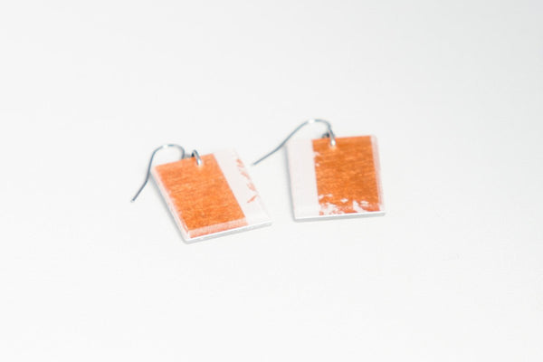 Gild Copper White Earrings - Regular