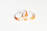 Gild Copper White Hoop Earrings - Small