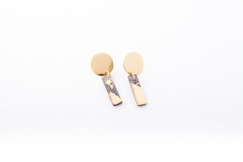 Gild Gold Earrings - Drop Circle