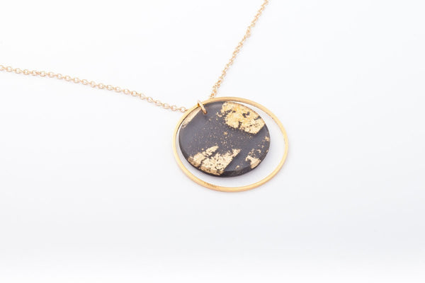 Gild Gold Necklace - Double Circle