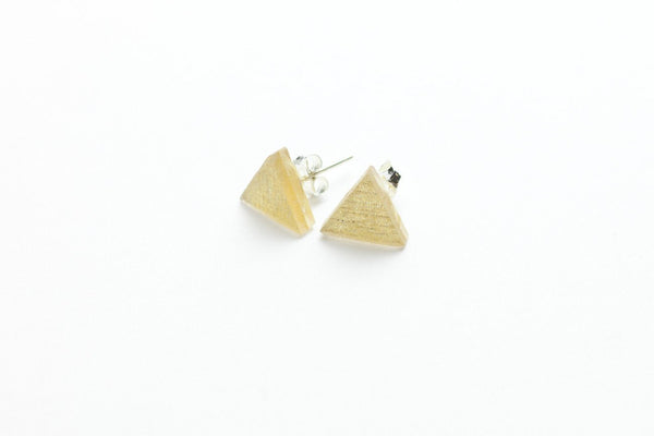 Pure Gold Stud Earrings - Triangle