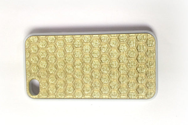 Pure Gold Honeycomb iPhone Case