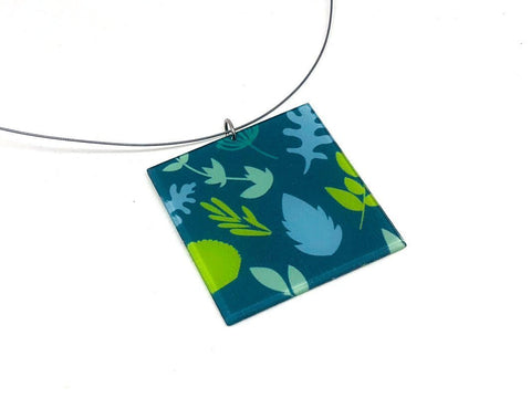 Plant Pop Necklace - Lrg Square