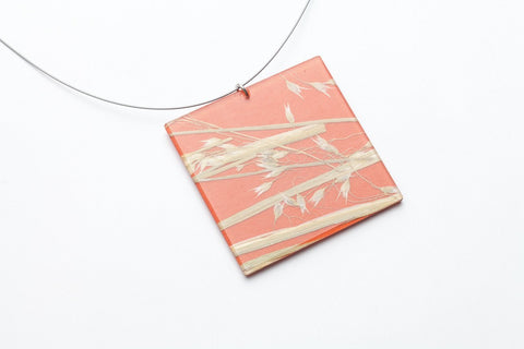 Rice Grass Mesa Necklace - Lrg Square