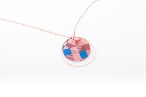 Rose Pop Necklace - Double Circle