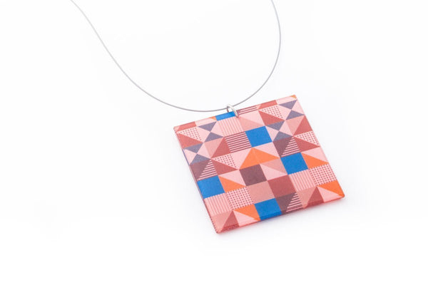 Rose Pop Necklace - Lrg Square