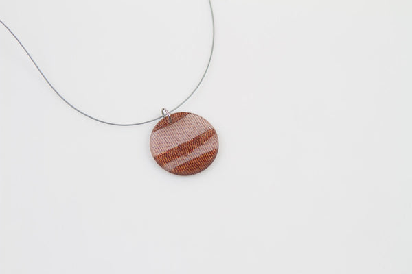 Swept Copper Necklace - Circle