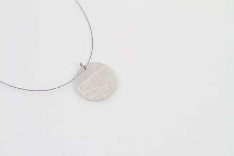 Swept Silver Necklace - Circle